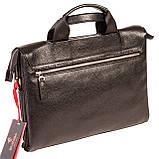 Мужская сумка портфель Eminsa 7102-18-1 кожаная черная, фото 2