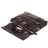 Мужская сумка портфель Eminsa 7102-18-1 кожаная черная, фото 5