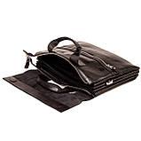 Мужская сумка портфель Eminsa 7102-18-1 кожаная черная, фото 6