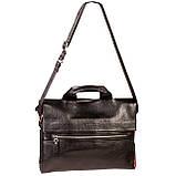 Мужская сумка портфель Eminsa 7102-18-1 кожаная черная, фото 7