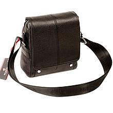 Чоловіча сумка Eminsa 6070-18-1 шкіряна чорна