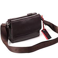 Чоловіча сумка шкіряна коричнева Eminsa 6111-12-3