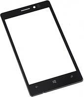 Стекло дисплея Nokia N925 чёрное (для переклейки)