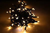 Уличная светодиодная гирлянда нить Lumion String Light стринг лайт 100 led наружная белый теплый без каб пит
