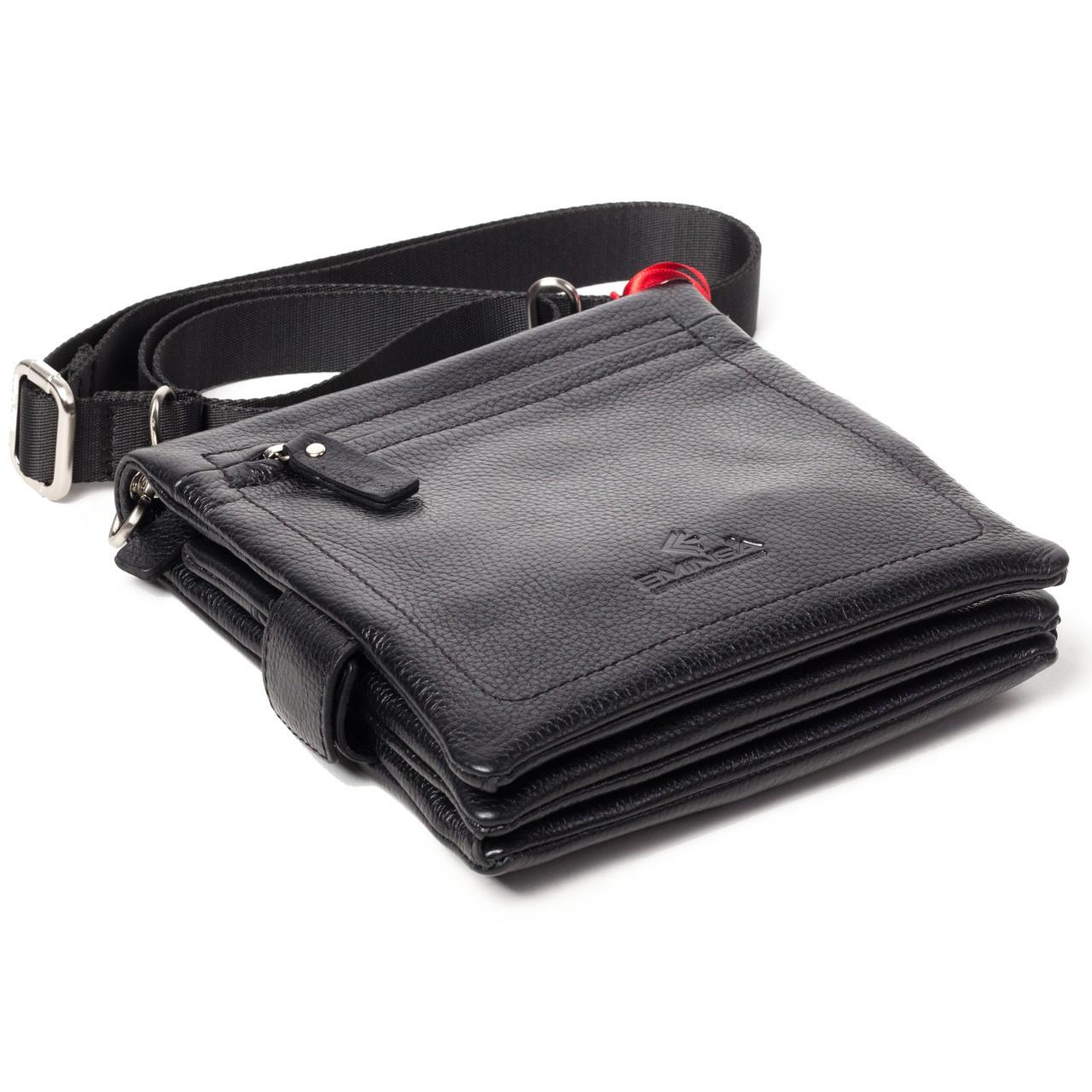 Мужская сумка кожаная черная Eminsa 6096-37-1