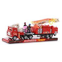 Пожарная машина W 128 P (72шт) инер-я, с водомётом, фигурки 2шт, подв.детали,в слюде, 36-12-7,5см