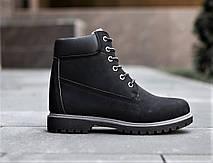 Ботинки черевики зимові чорний нубук, фото 3