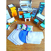 Набор текстиля для Большого набора мебели LOL Матрасик, Подушка, Одеяло,  Коврик