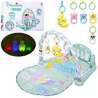 Килимок для малюків 698-56, 78*53см, піаніно, дуга, підвіски-брязкальця 5шт, світло, звук, в коробці 62*42*11с