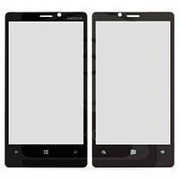 Стекло дисплея Nokia N920 чёрное (для переклейки)