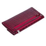 Женский кошелек Karya 1142-08 кожаный красный, фото 3