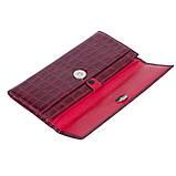 Женский кошелек Karya 1142-08 кожаный красный, фото 5