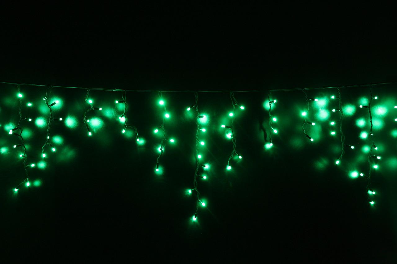 Уличная светодиодная гирлянда бахрома Lumion Icicle Light (Айсикл лайт) 90 led  наружная цвет зеленый