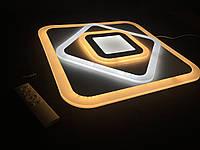 Потолочный светодиодный квадрат 105 ватт  с пультом  диммерный