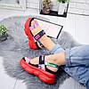 Босоножки женские в стиле Gucci красные 7912