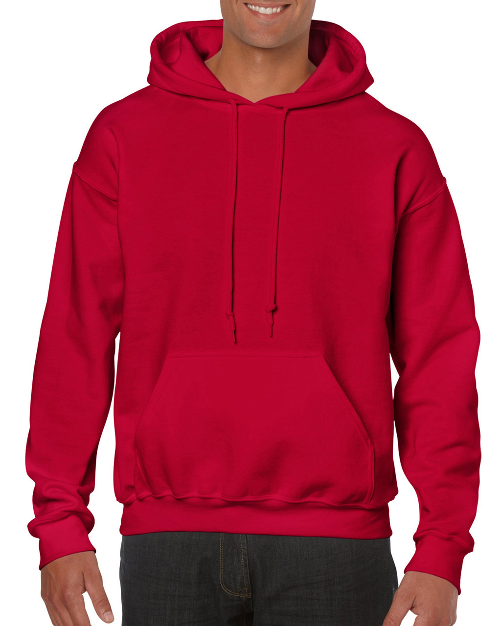 Реглан худи с капюшоном, Heavy Blend, вишневый красный, GILDAN, размеры от S до 2XL