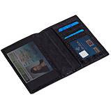 Обложка на паспорт Eminsa 1523-4-1 кожаная черная, фото 3