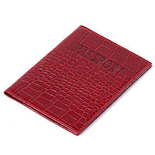Обкладинка на паспорт Eminsa 1523-4-5 червона шкіряна