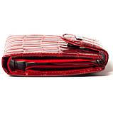 Маленький женский кошелек кожаный красный Karya 1052-08, фото 4