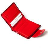 Маленький женский кошелек кожаный красный Karya 1052-08, фото 5