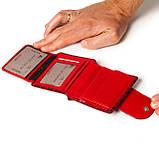 Маленький женский кошелек кожаный красный Karya 1052-08, фото 6