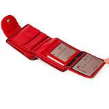 Маленький женский кошелек кожаный красный Karya 1052-08, фото 7