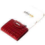 Маленький женский кошелек кожаный красный Karya 1052-08, фото 8