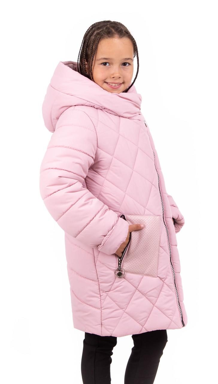 Зимняя куртка парка для девочки  подростка   34-40 розовый