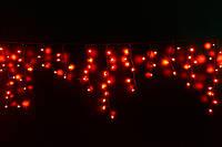Уличная светодиодная гирлянда бахрома Lumion Icicle Light (Айсикл лайт) 120 led  наружная цвет красный