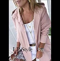 Красивая стильная женская накидка с капюшоном 42,44,46.(4расцв), фото 1