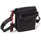 Мужская сумка Eminsa 6022-37-1 кожаная черная, фото 2