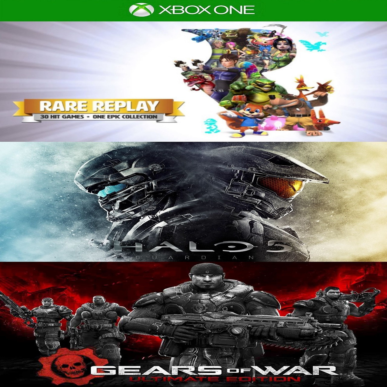 Rare Replay/ Halo5 /Gears Of War:Ultimate Edition (Код) XBOX ONE
