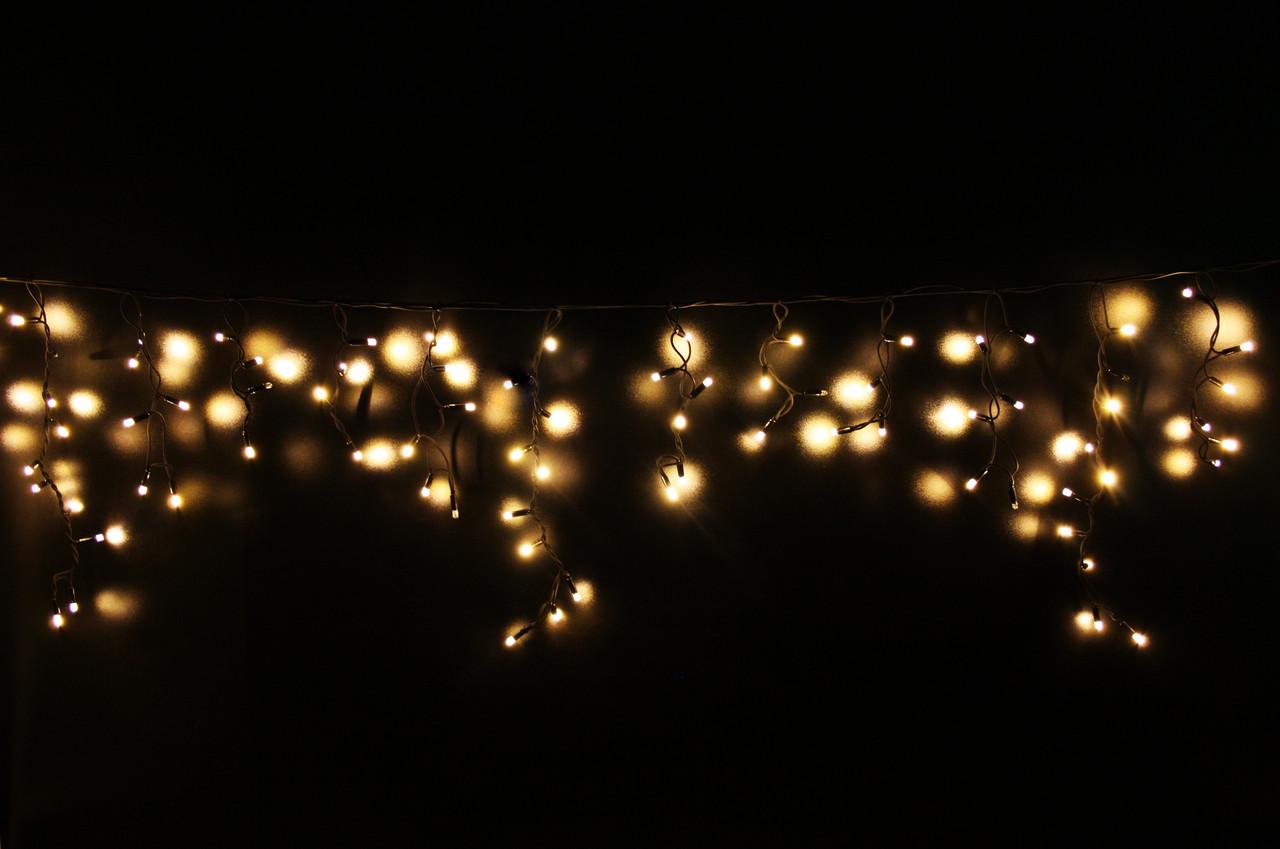 """Новогодняя led-гирлянда Lumion 120 led """"Бахрома""""/Icicle/наружная/белый теплый"""