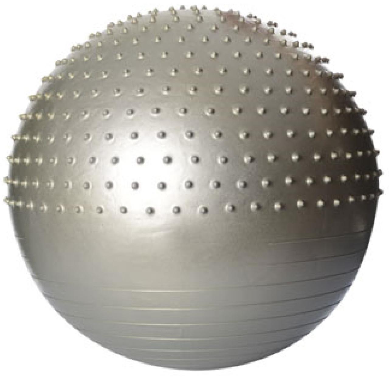 Фитбол 65 см  массажный с шипами (серебристый)