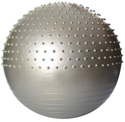 Фитбол 65 см  массажный с шипами (серебристый), фото 2