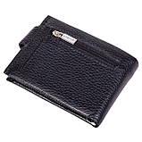 Кошелек зажим для денег кожаный черный Karya 0944-45, фото 2