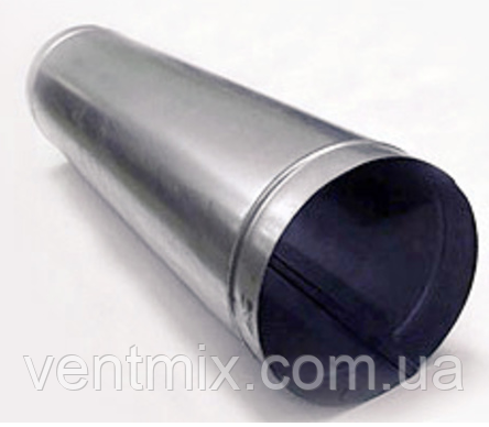 Труба d 130 длина 1 м из оцинкованной стали
