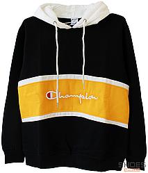 Худи Champion Black/Yellow (ориг.бирка)