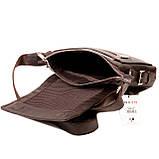 Мужская сумка Karya 0520-39 кожаная c плечевым ремнем, фото 5