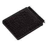 Зажим для денег Eminsa 1075-4-1 кожаный чёрный, фото 2
