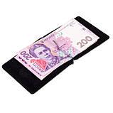 Зажим для денег Eminsa 1075-4-1 кожаный чёрный, фото 5