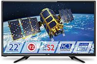 Телевизор Dex LE-2255TS2 (для кухни LED, 1920x1080, DVB-T2/S/C)