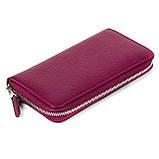 Женский кошелек Butun 639-004-005 кожаный марсала, фото 2