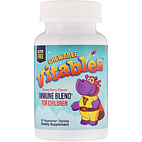 Vitables, Детская жевательная добавка для укрепления иммунитета, ягодный микс, 90 вегетарианских таблеток, фото 1