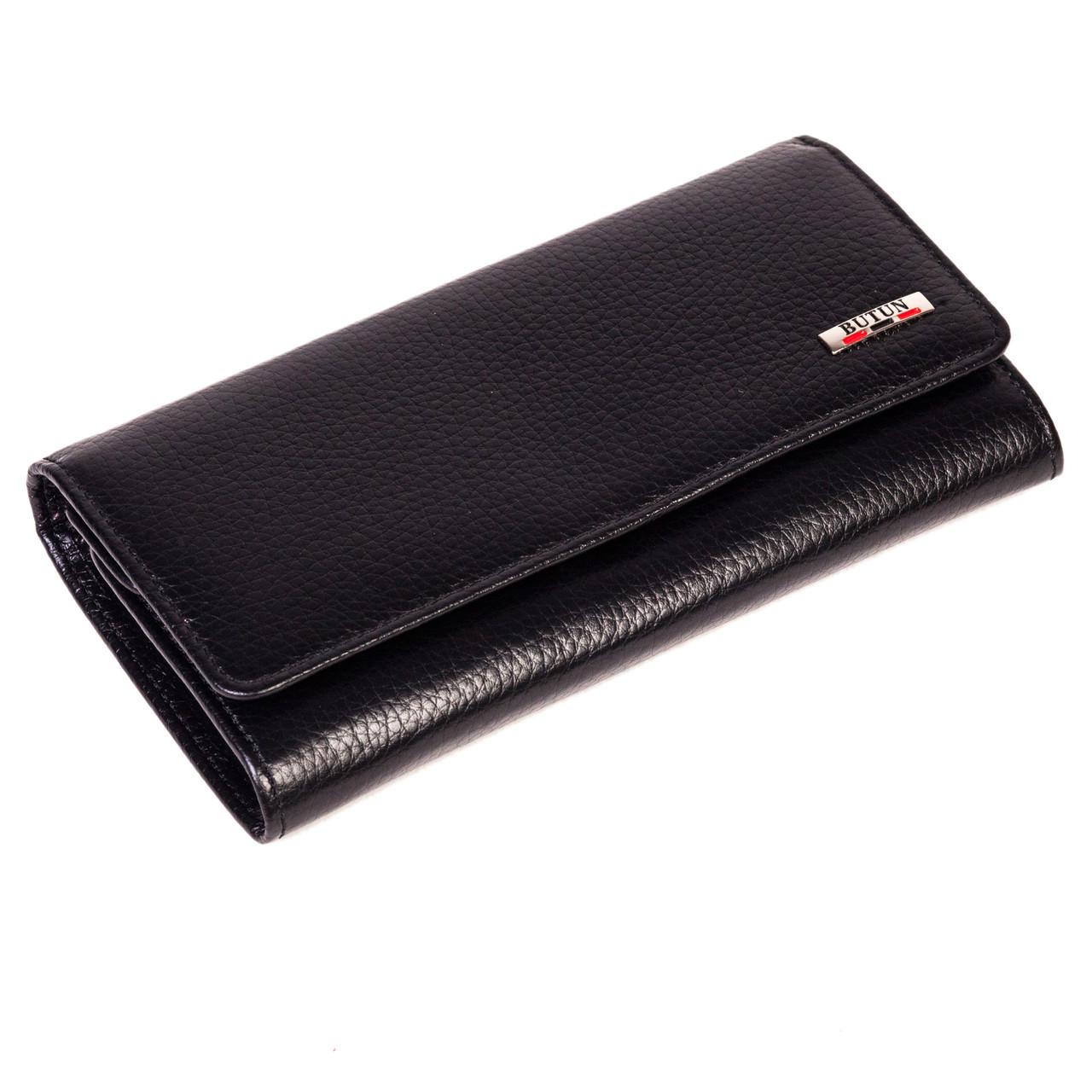 Женский кошелек Butun 592-004-001 кожаный черный