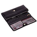 Женский кошелек Butun 592-004-001 кожаный черный, фото 3