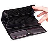 Женский кошелек Butun 592-004-001 кожаный черный, фото 5