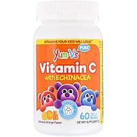 Витамин С с эхинацеей для детей, со вкусом апельсина, YumV's, 60 желейных медведей