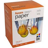 Для печати CW бумага глянцевая 200г/м, 10х15 PG200-500 карт.уп.