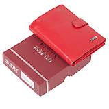 Женский кошелек Butun 186-004-006 кожаный красный, фото 7